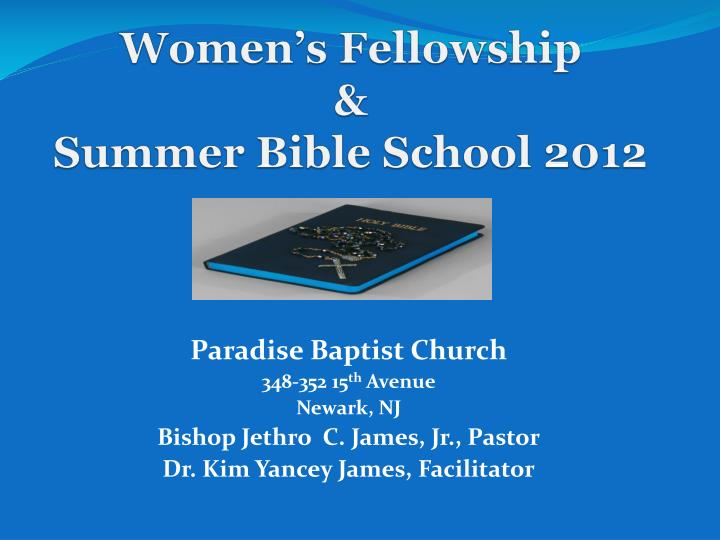 Women s fellowship summer bible school 2012