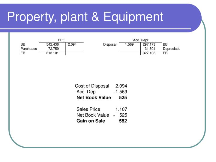 Property plant equipment