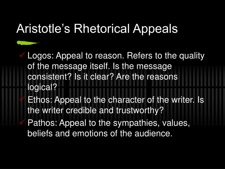 Aristotle's Rhetorical Appeals