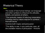 rhetorical theory