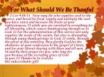 for what should we be thanful1
