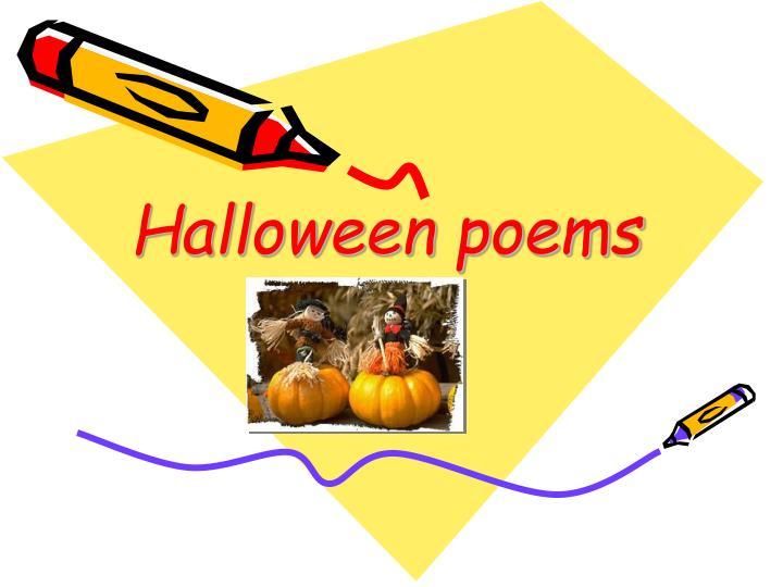 Halloween poems