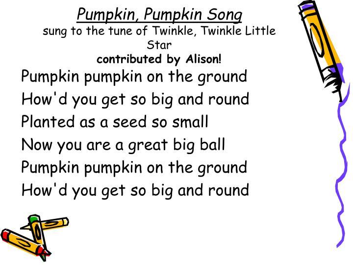 Pumpkin, Pumpkin Song