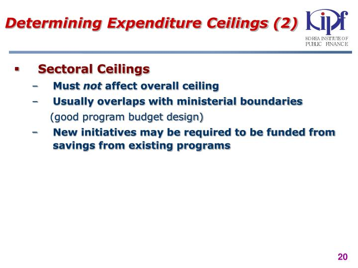 Determining Expenditure Ceilings (2)