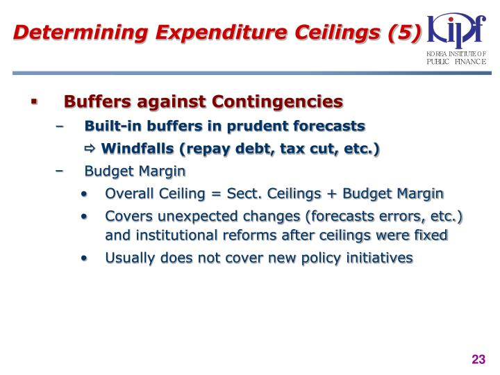 Determining Expenditure Ceilings (5)