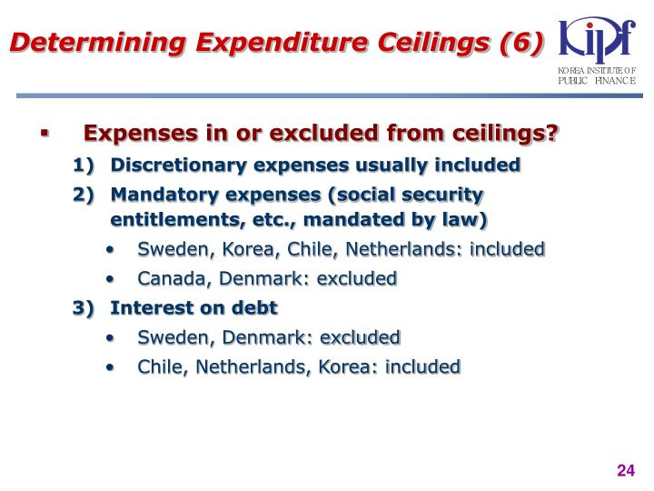 Determining Expenditure Ceilings (6)