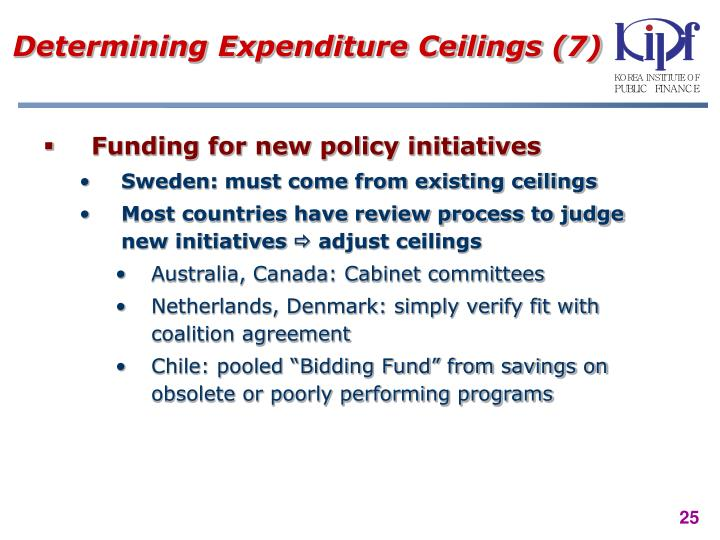 Determining Expenditure Ceilings (7)