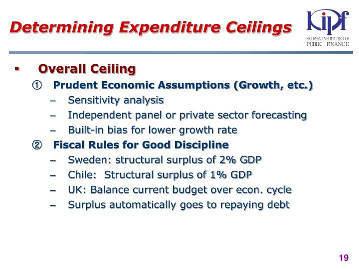 Determining Expenditure Ceilings