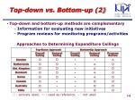 top down vs bottom up 2