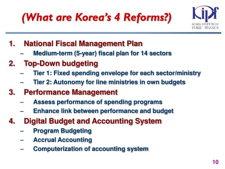 (What are Korea's 4 Reforms?)