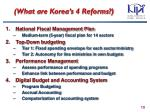 what are korea s 4 reforms