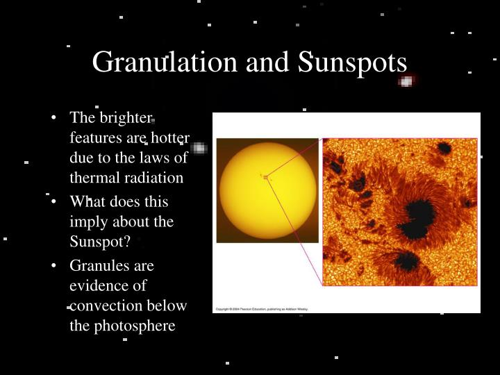 Granulation and Sunspots