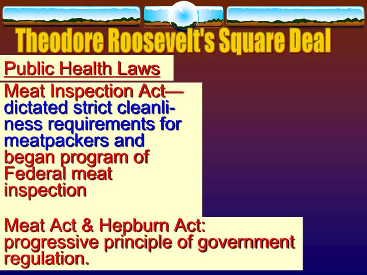 theodore roosevelt and meat inspection act