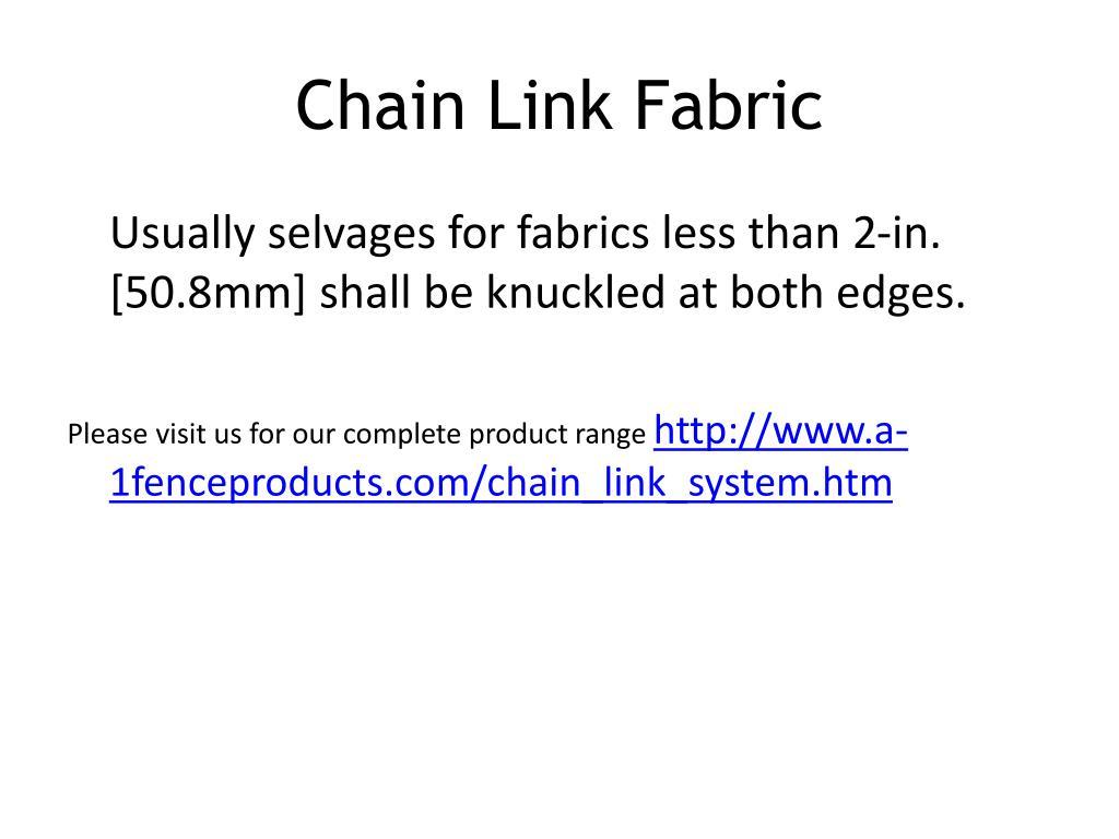 Chain Link Fabric
