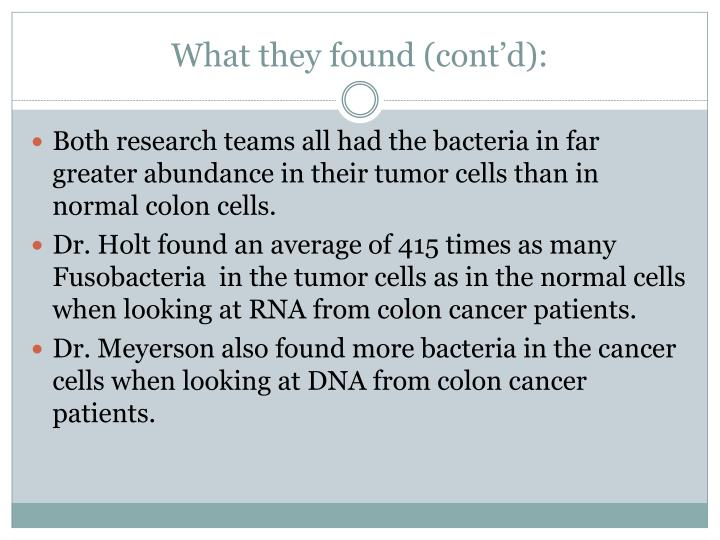 What they found (cont'd):