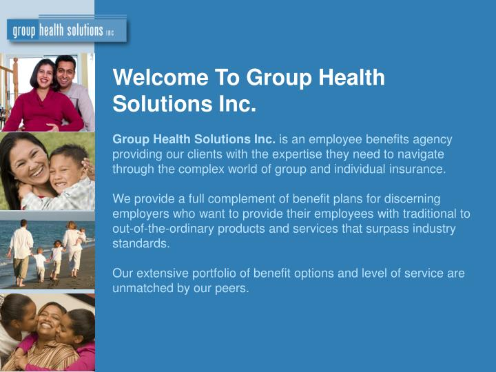 Welcome To Group Health Solutions Inc.