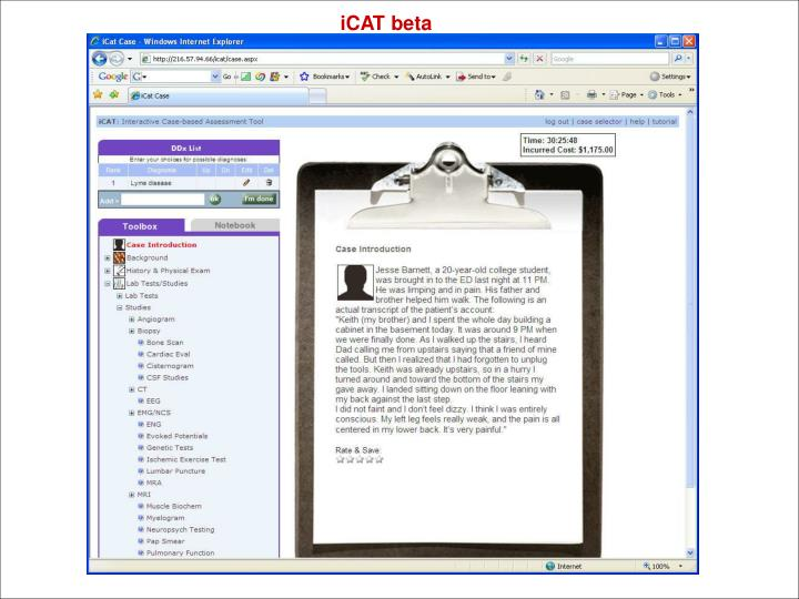 iCAT beta