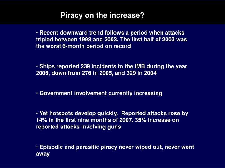 Piracy on the increase?