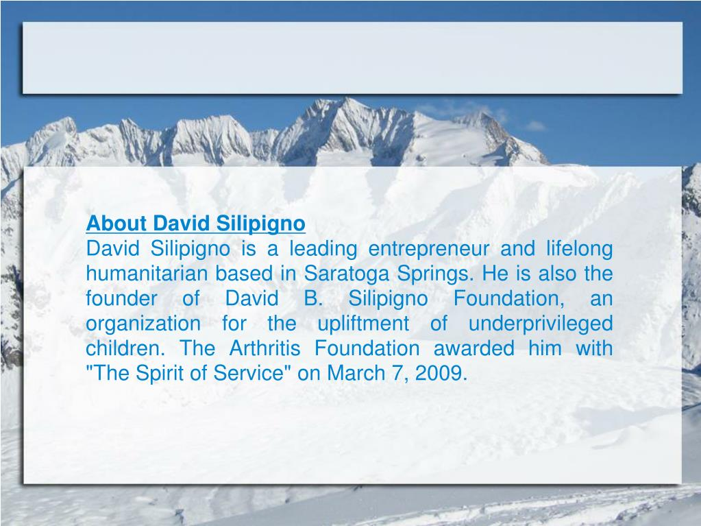 About David Silipigno