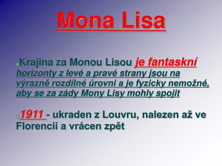 Krajina za Monou Lisou