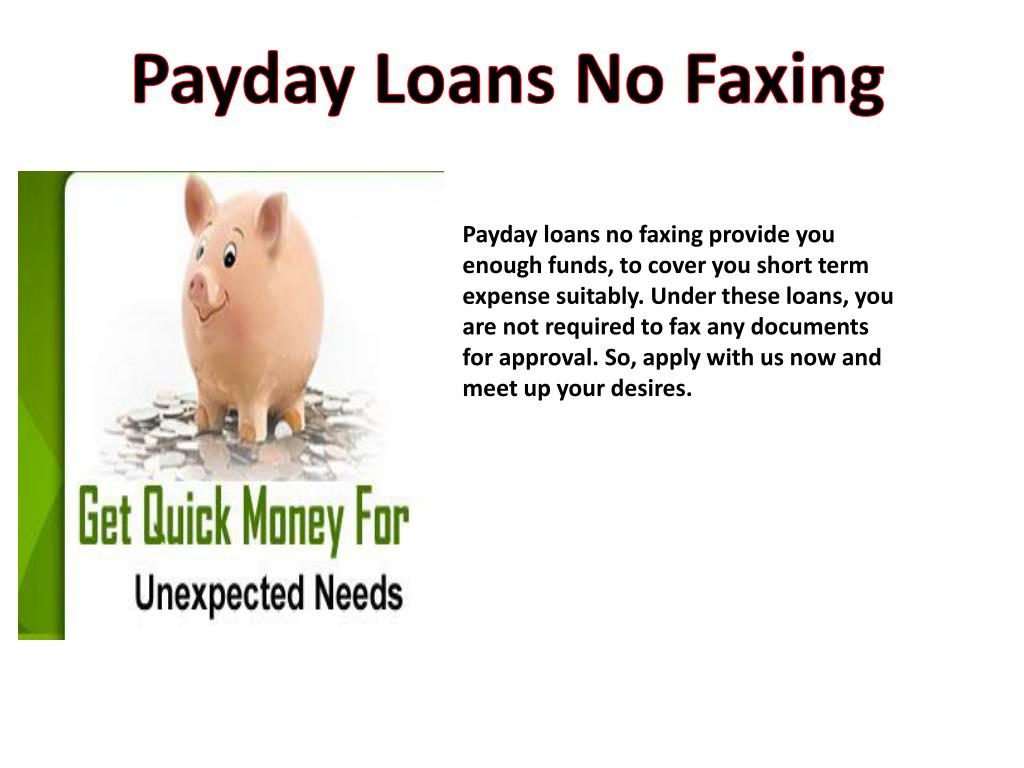 Payday Loans No Faxing