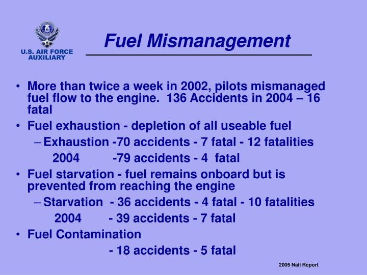 Fuel Mismanagement