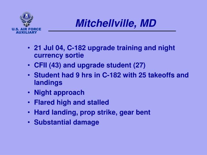 Mitchellville, MD