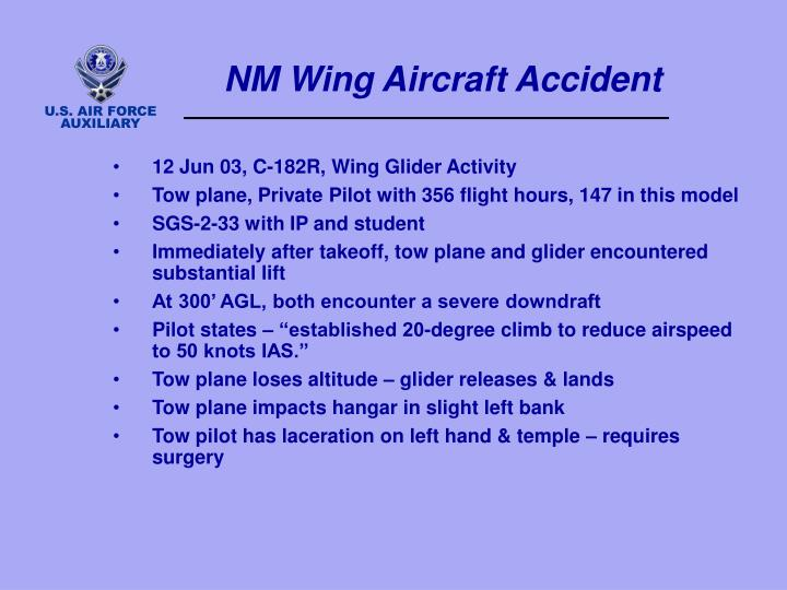 NM Wing Aircraft Accident