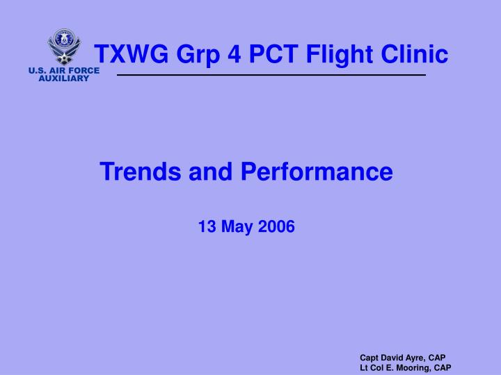 TXWG Grp 4 PCT Flight Clinic