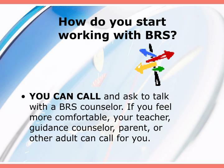 How do you start working with BRS?
