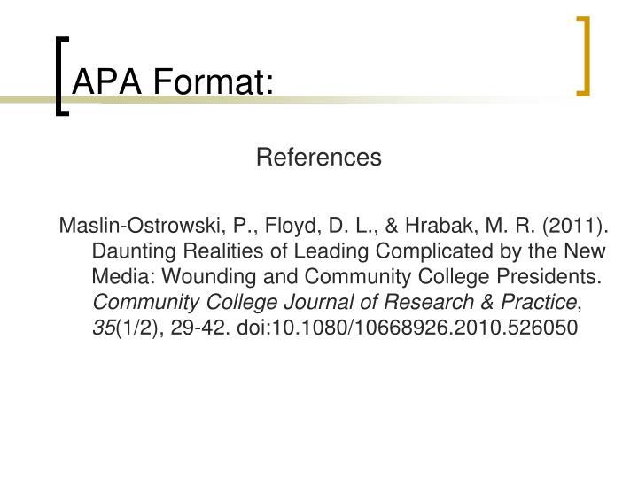 APA Format: