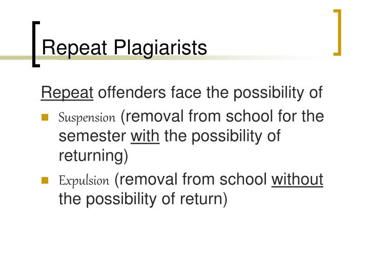 Repeat Plagiarists