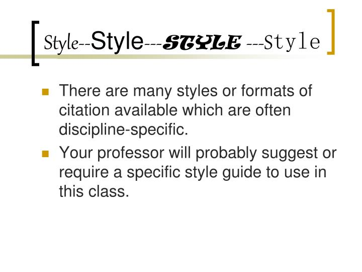 Style--