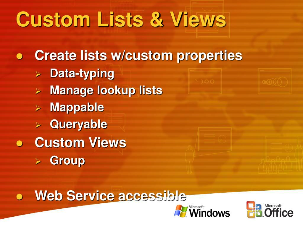 Custom Lists & Views