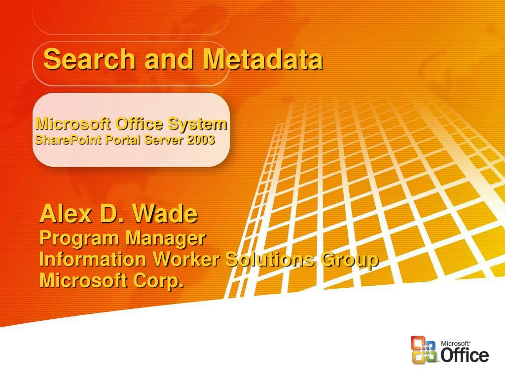 Search and Metadata
