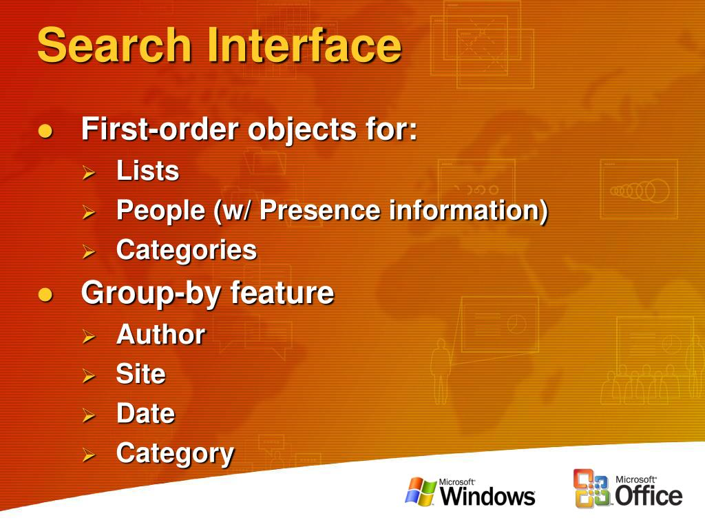 Search Interface