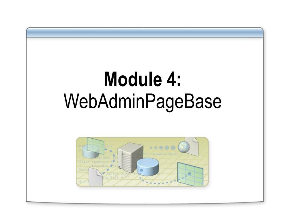 Module 4:
