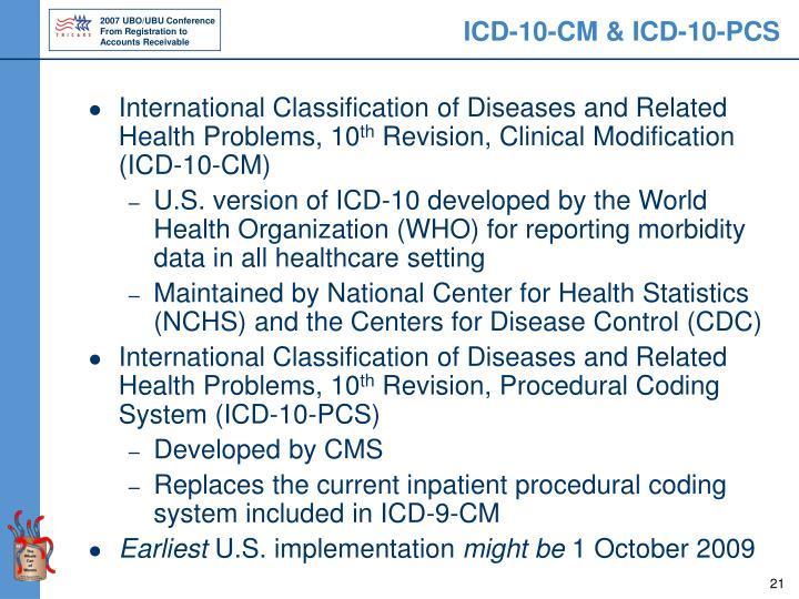 ICD-10-CM & ICD-10-PCS