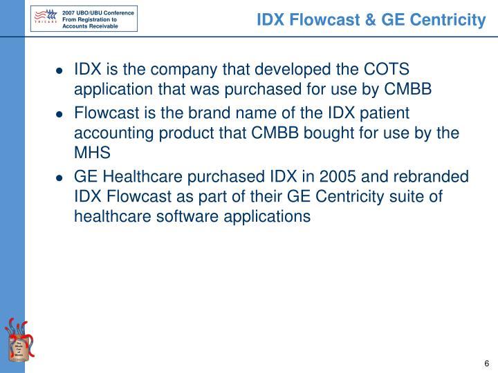IDX Flowcast & GE Centricity