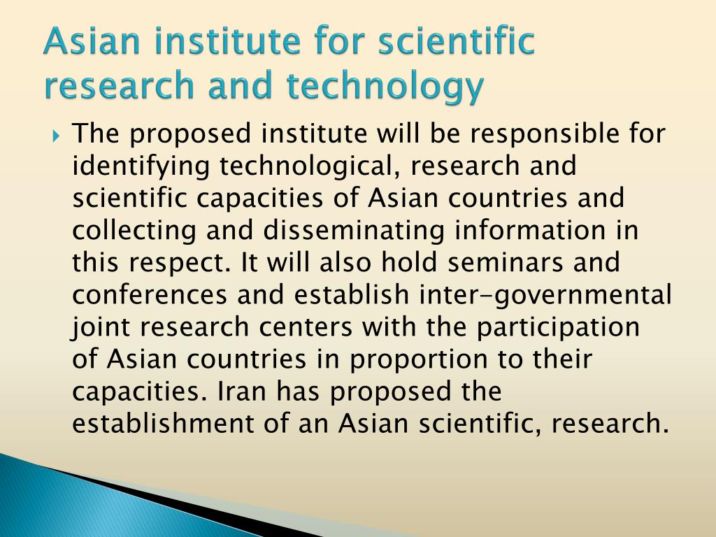 Asian institute for scientific research and technology