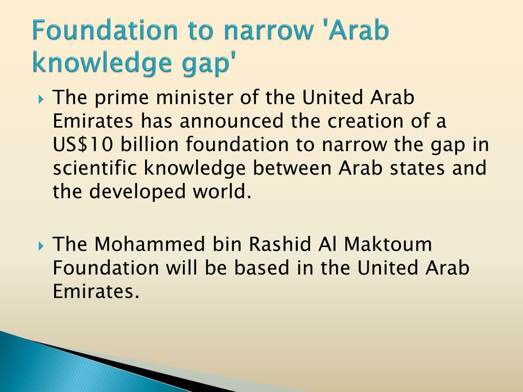 Foundation to narrow 'Arab knowledge gap'