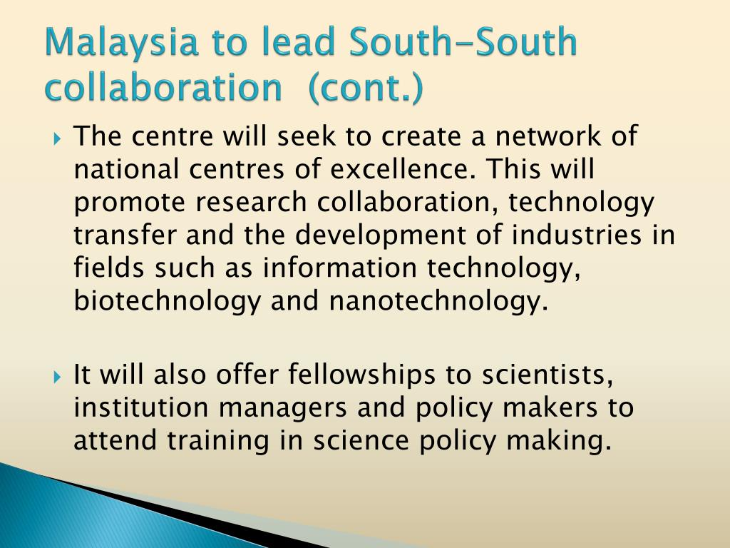 Malaysia to lead South-South collaboration  (cont.)