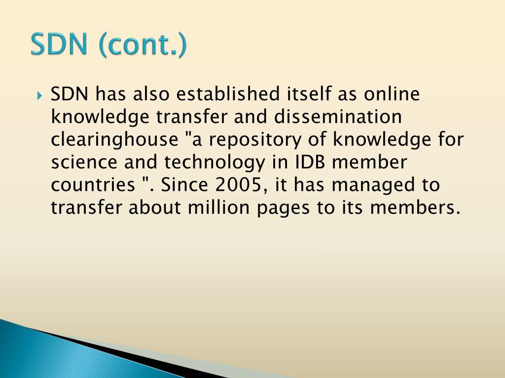 SDN (cont.)