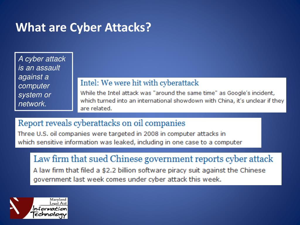 What are Cyber Attacks?