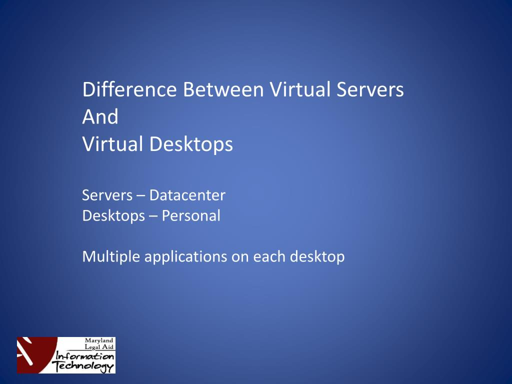 Difference Between Virtual Servers