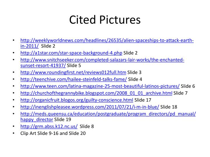 Cited Pictures
