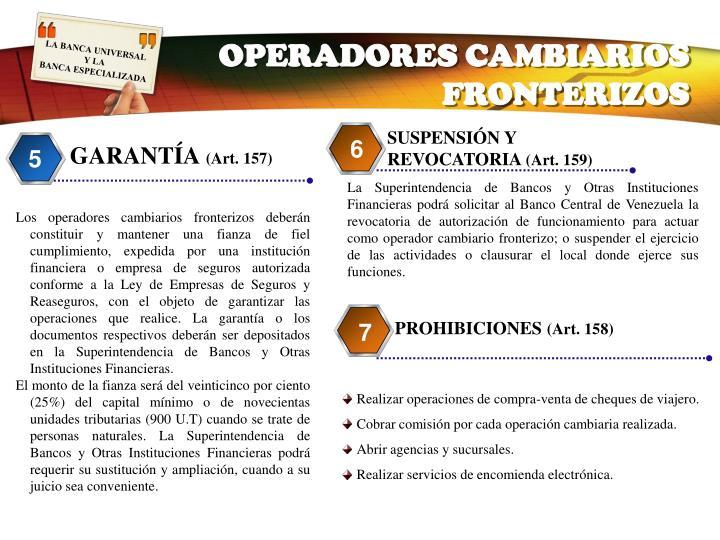 OPERADORES CAMBIARIOS FRONTERIZOS
