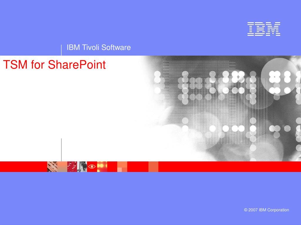 TSM for SharePoint
