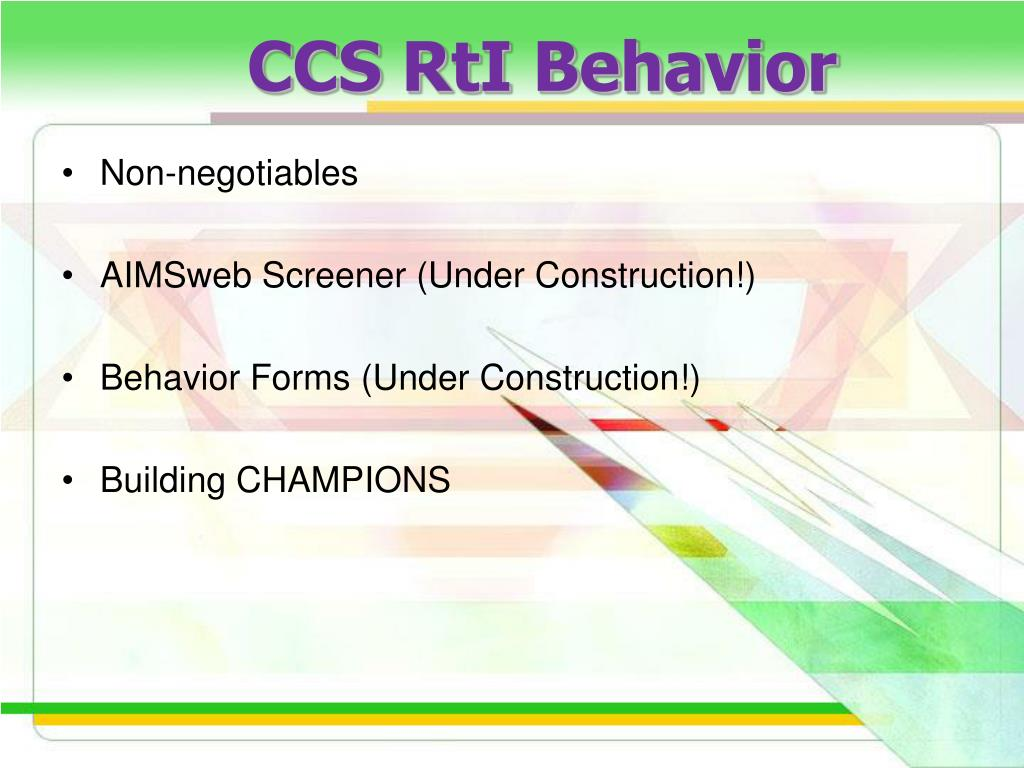 CCS RtI Behavior