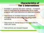 characteristics of tier 2 interventions